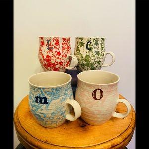 Set of Anthropologie mugs